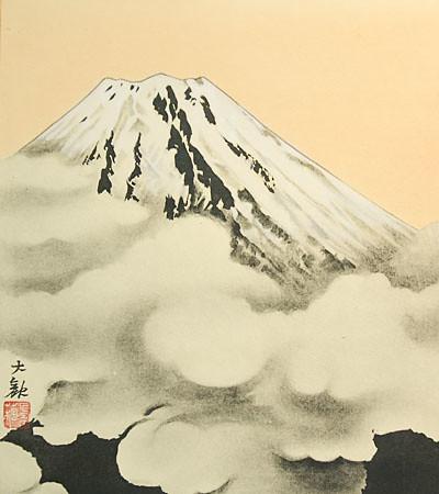 Japanese Shikishi Art Print – Mt Fuji Clouds Fujisan ...