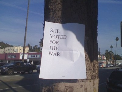 She voted for the war