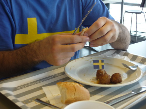 Swedish meatballs (and t-shirt) in Ikea, Zaragoza