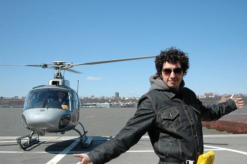 Foto de después del tour en helicóptero