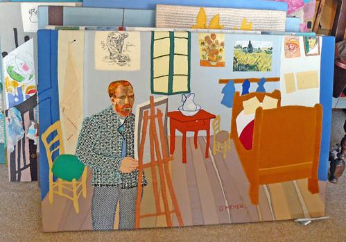Vincent dans son atelier