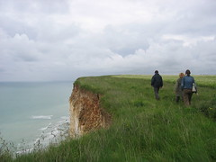 A walk on the cliff, Normandie