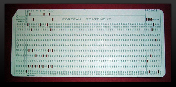 Punch card Fortran program
