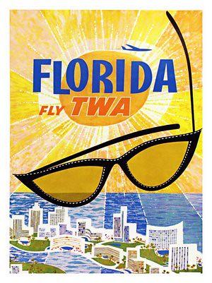 florida-twa-travel-poster-david-klein-1960s