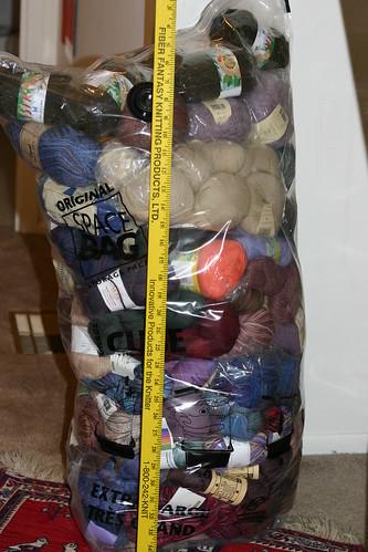 Spacebag before vacuuming