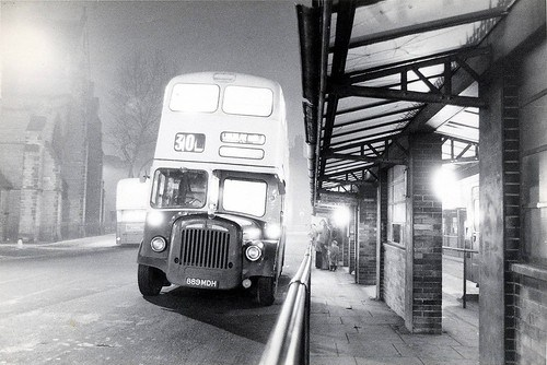 889MDH - Walsall at night c 1975
