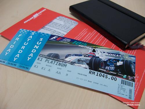 Malaysian F1 Sepang ticket
