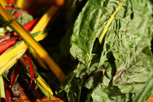 Swiss Chard Prepped for Cooking