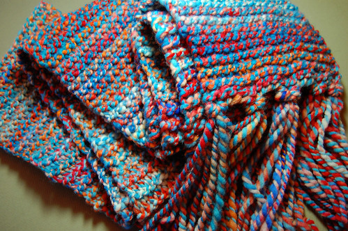 Red Planet Blue scarf