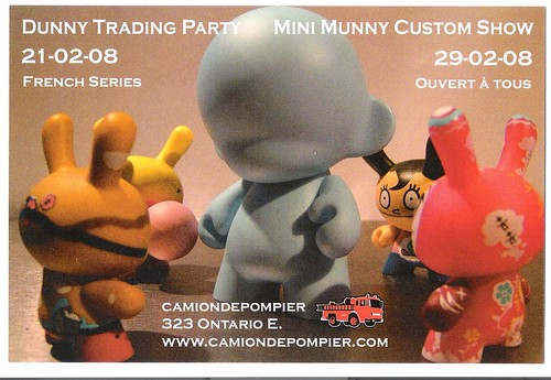 Flyer Dunny Trade Party Mini Munny Show