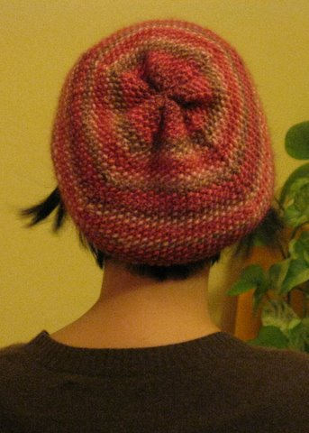 SWS Seed Stitch Slouchy Hat - back