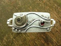 Ammonite & Garnet Bracelet