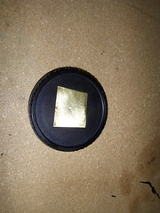 Cap with Brass Shim in Place