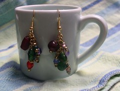 Large Rainbow Chain Dangles