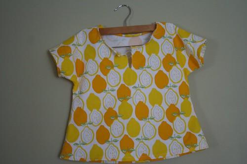 Handmade Shirt B in Lemons