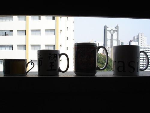 succession of mugs