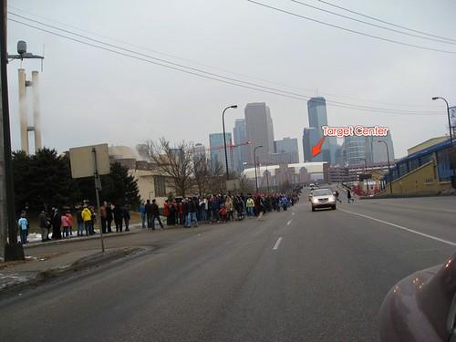 Obama Line Outside