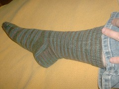 Tea on the Sea Socks - Sock 1 done