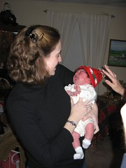 Baby in holiday hat 1