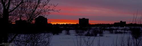 skyline at dawn