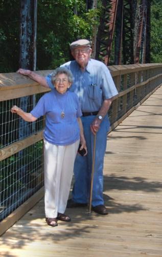 Mom and Dad on Peak Bridge