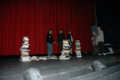 Symmetrical book stacking....CONTEST!