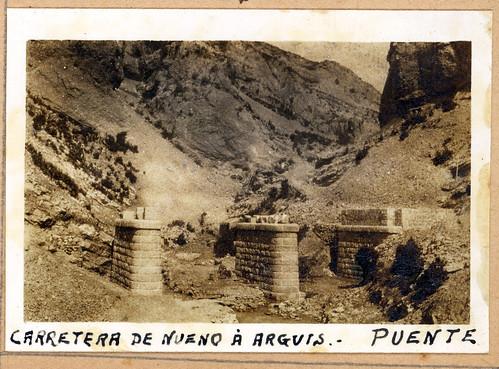 ADACAS - 02-10: Construcción de la carretera de Arguis a Nueno, Huesca. 1921-1924