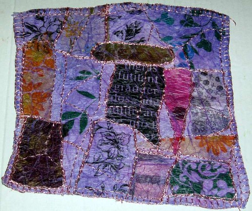 Hand Sewn Fabric Paper Quilt