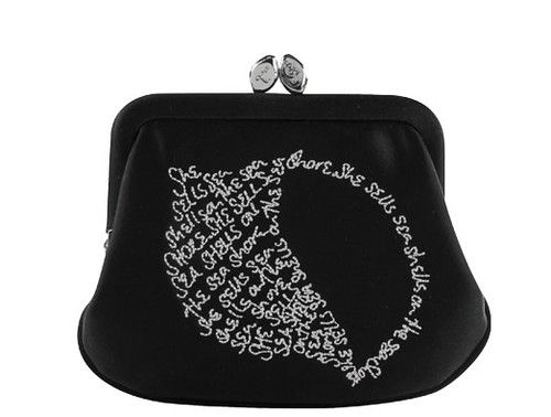 Lulu Guinness Shell Writing Mini Frame Purse
