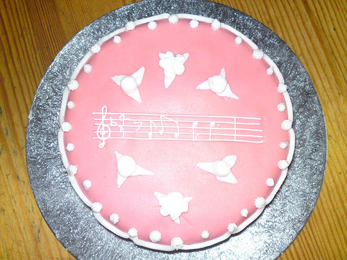 My first attempt - a musical cake