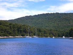 Leaving Krivica bay