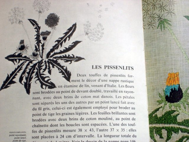 """Les Pissenlits du """"Les ouvrages du jardin des modes"""""""