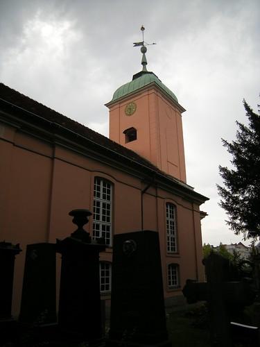 Dorfkirche Schöneberg - vom Friedhof aus gesehen