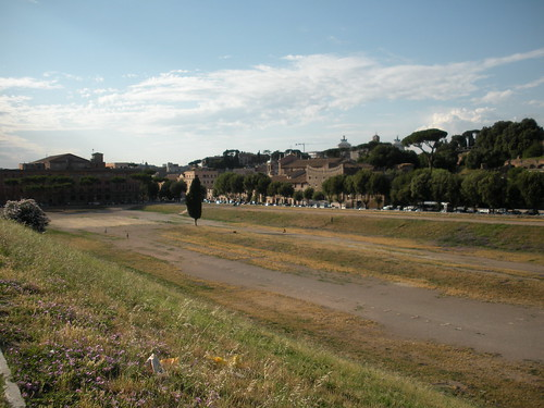 This is where the Circus Maximus was. The Circus Maximus was mainly known for chariot racing, but it also featured mass executions.