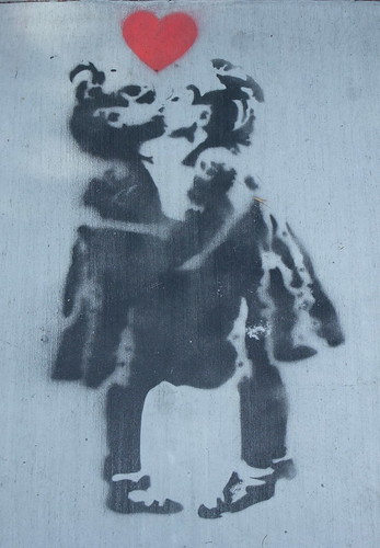 I kissed A Girl Stencil on Upper Haight