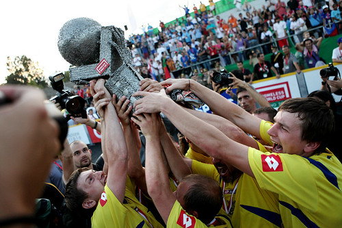 Ukraine took home the prize from the 2009 Homeless World Cup.