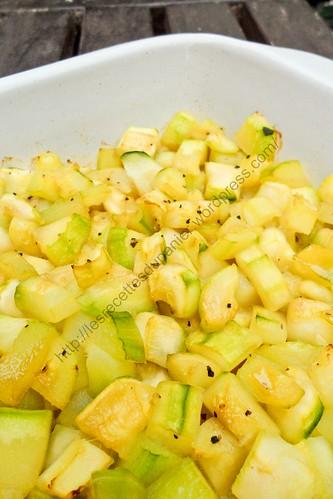 Courgettes au miel / Honey Zucchini
