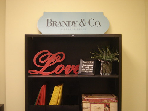 Heres a close-up view of some items in Brandys bookcase.