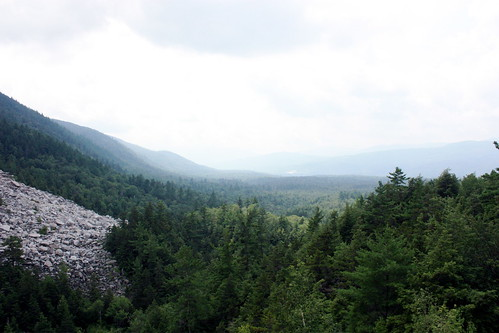 View of the valley and rocks