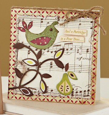 Or if youre into the vintage & shabby chic look, why not gain some inspiration from Renee Lambs Partridge in a Pear Tree Card.