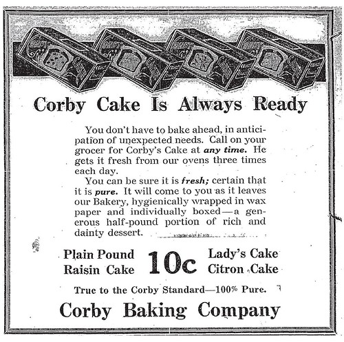 Corby Ad 1915