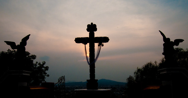 Cholula Mexico sunset