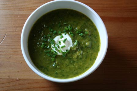 Spinach Barley Soup