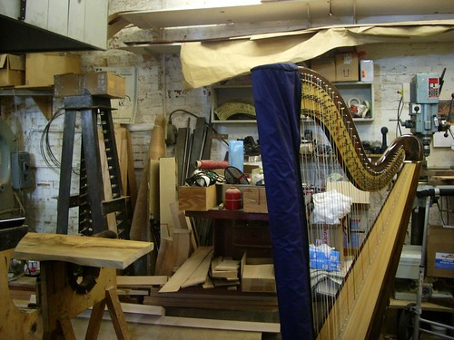 The harp goes in for a service