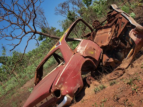 A car crash that already happened