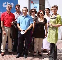 CHA, de campaña en la calle Delicias