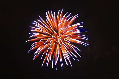 The fireworks at Lake County Fairgrounds