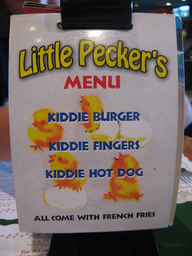 Little Pecker's Menu
