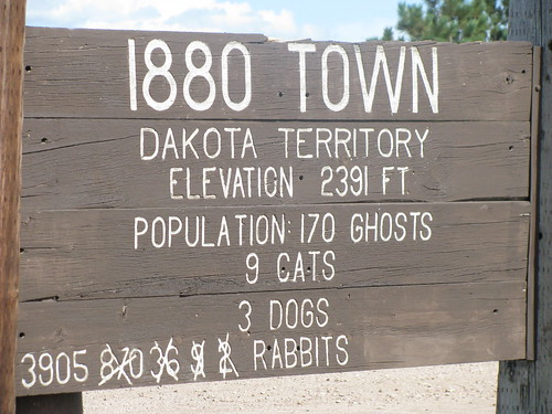Amusing Sign at Town of 1880, South Dakota