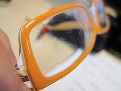 Scratched 'anti-scratch coated' glasses